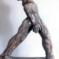 Getanzte Passion, patin. Ton, 40 x 35 cm